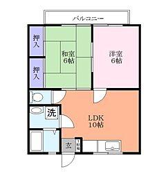 フォーチュネイト斉藤[2階]の間取り