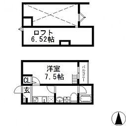 Purosupere弥栄(プロスペレイヤサカ)[102号室号室]の間取り