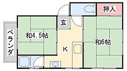 新堂マンション[3S号室]の間取り