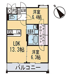 新築エトワール[304号室]の間取り