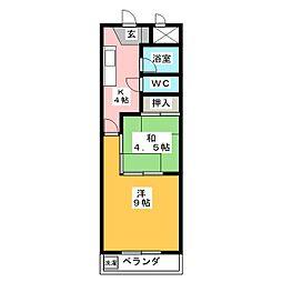 新日ビル豊明マンション[9階]の間取り