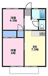 ポエムI[2階]の間取り