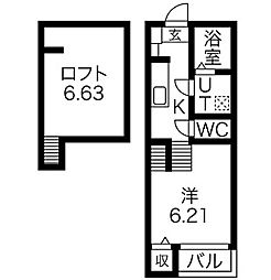 Verde新守西[2階]の間取り