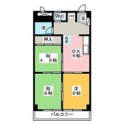 ロイヤル一宮[5階]の間取り