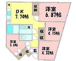 高尾駅 6.5万円