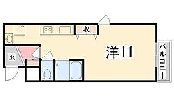 Maison Asahi[3-B号室]の間取り