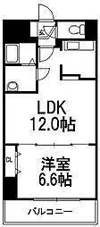 プレリオン札幌南4条[6階]の間取り