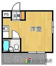 エスポワール箱崎[602号室]の間取り