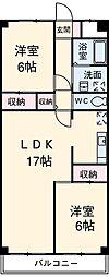 東京都江戸川区北葛西4丁目の賃貸マンションの間取り