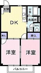 ニューシティ戸田谷[1階]の間取り