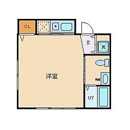 Y's ビル 3階ワンルームの間取り