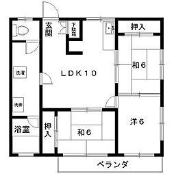 エステートキムラII[2階]の間取り