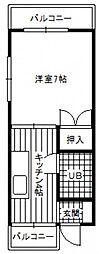 ポニーマンション[2階]の間取り