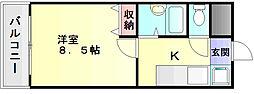 エース弐番館[4階]の間取り