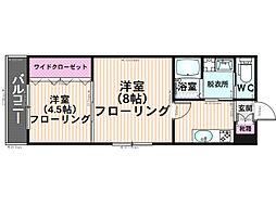 K&Y寺塚[101号室]の間取り