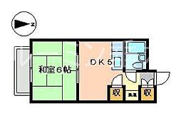サンハイツ多井田C棟[211号室]の間取り
