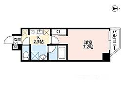 インペリアル桜川南III[508号室]の間取り