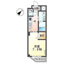 広島電鉄宮島線 草津南駅 徒歩2分の賃貸マンション 1階1Kの間取り