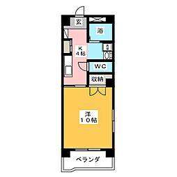 リヴィエル柳町[4階]の間取り