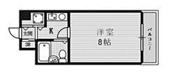 阪急チェリーマンション[203号室]の間取り