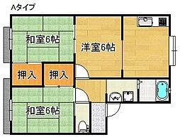 リバーサイドシティ麻生川[1階]の間取り