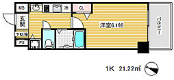 ララプレイス三宮東アスヴェル[8階]の間取り