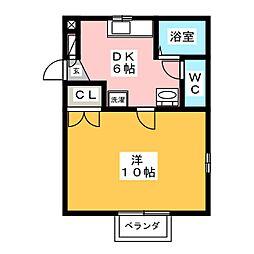 メロディーS[2階]の間取り