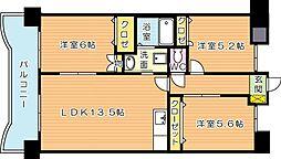 サンディエゴ永野VI[2階]の間取り