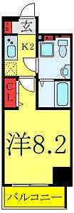 間取り,1K,面積25.74m2,賃料9.0万円,東京メトロ日比谷線 三ノ輪駅 徒歩2分,つくばエクスプレス 南千住駅 徒歩8分,東京都荒川区南千住2丁目