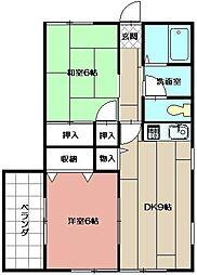 赤坂レトア[201号室]の間取り