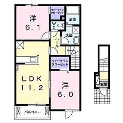 プリムローズ・ノース[2階]の間取り