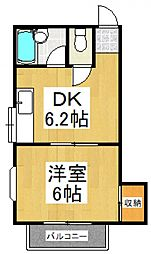プチハウスアキ[2階]の間取り