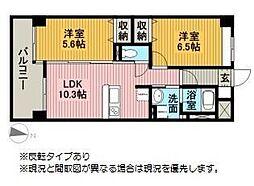 モン・ヴィラージュ佐賀駅前[306号室]の間取り