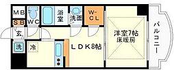 ノルデンタワー新大阪アネックス A棟 10階1LDKの間取り