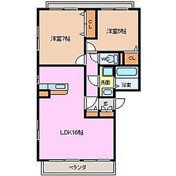 ラ レーヴ[3階]の間取り