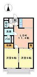神奈川県川崎市高津区二子6丁目の賃貸マンションの間取り