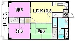 ロイヤルアネックス土居田[205号室]の間取り