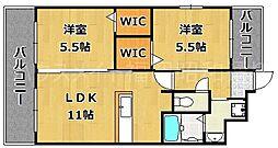 プランドール高砂(PRENDRE TAKASAGO)[2階]の間取り