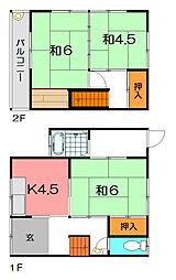 [テラスハウス] 兵庫県尼崎市大庄北5丁目 の賃貸【/】の間取り
