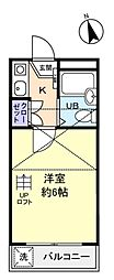 キャッスル勝田台[2階]の間取り