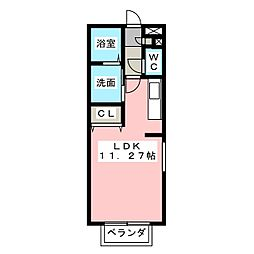 ヴィータ・ディステッサ[2階]の間取り