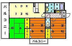 ソレーユ21[4階]の間取り