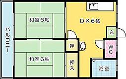 コーポ原田[302号室]の間取り