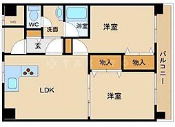 ノースコート[2階]の間取り