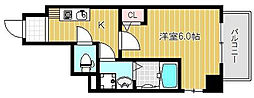 大阪府大阪市城東区関目1丁目の賃貸マンションの間取り