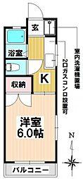愛知県名古屋市瑞穂区片坂町1丁目の賃貸アパートの間取り