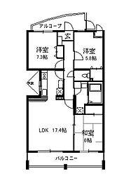 フィリアコート[1階]の間取り