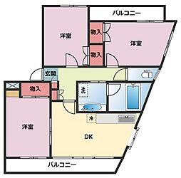 シャンス東寺尾中台11[301号室]の間取り