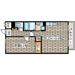 兵庫県神戸市西区玉津町出合の賃貸マンションの間取り