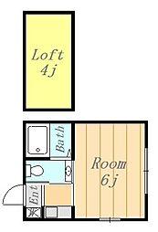 ラスティア[107号室]の間取り